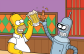 Homer and Bender drinking
